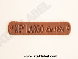 Leather label, real leather label, hot stamping, debossed, pressing
